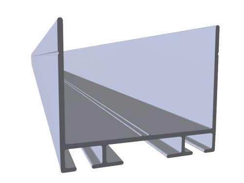 Profil Aluminium En U Pour Porte D 233 Paisseur 40 Mm Abc